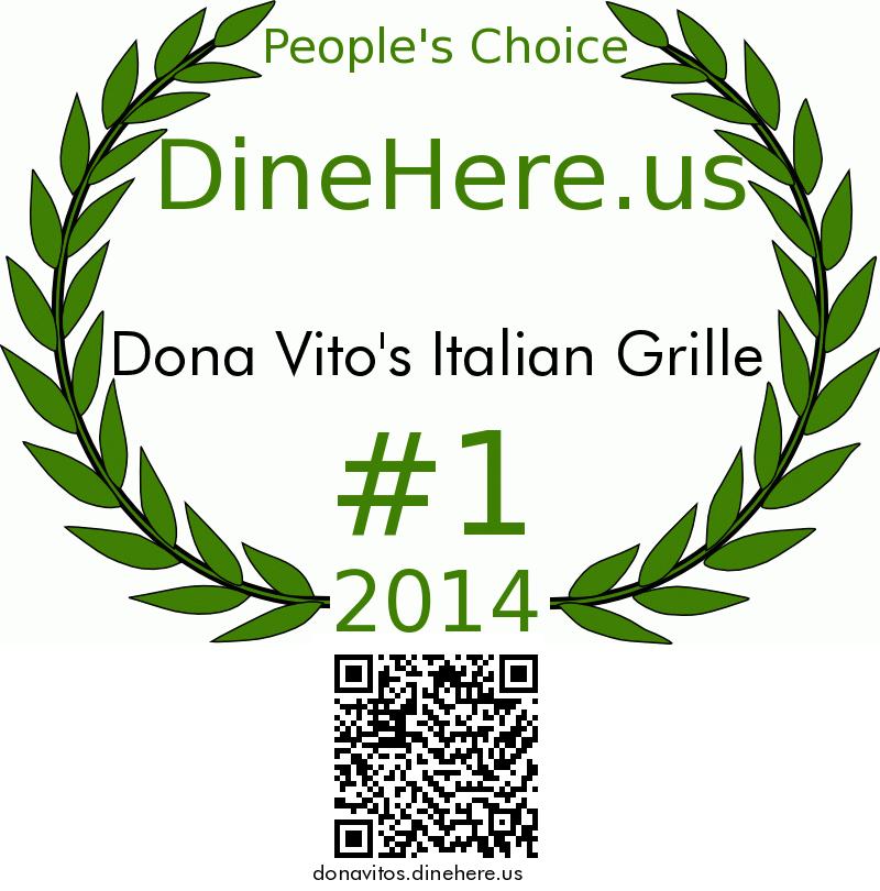 Dona Vito's Italian Grille DineHere.us 2014 Award Winner